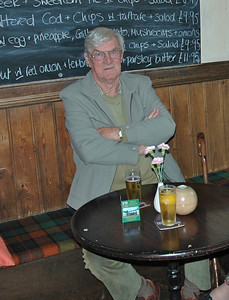 Dad waiting for his lunch at The Penny Farthing Oct. 2009.