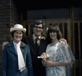 Mum Dad & Carolyn at Ian & Anne's wedding in 1978