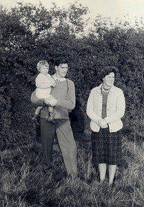 Mum, Dad & Carolyn taking an evening walk in Freemans Fields above the Post Office