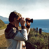Stopping to take pictures on a trip up the coast by Big Sur California