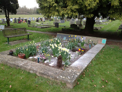 Dads ashes were scattered at Newent Cemetery under the trees. With Mums added 3 years later.