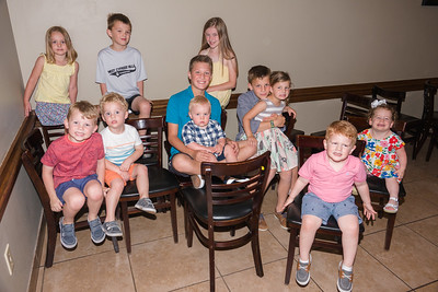 The big family celebration afternoon - here's a bunch of Great-Grandkids