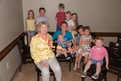 Great-Grandkids with Eleanor