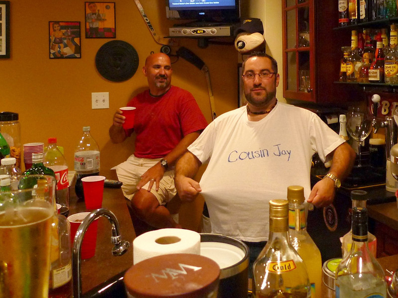 Even though Cousin Jay is family, it's OK to leave the bartender a tip.