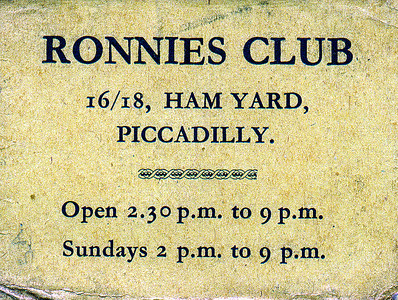 Ronnies Club Picadilly