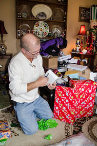 Bruce needs a knife to get into his gift.