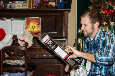 Nick opening his gifts