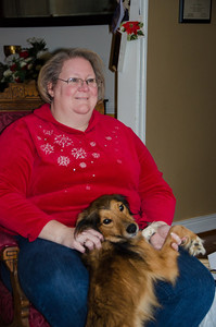Kathy and Roxy at the Boehm Chsirtmas