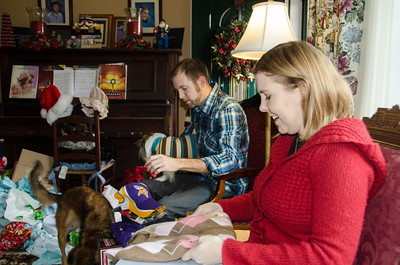 Helen and Nick at the Boehm Christmas