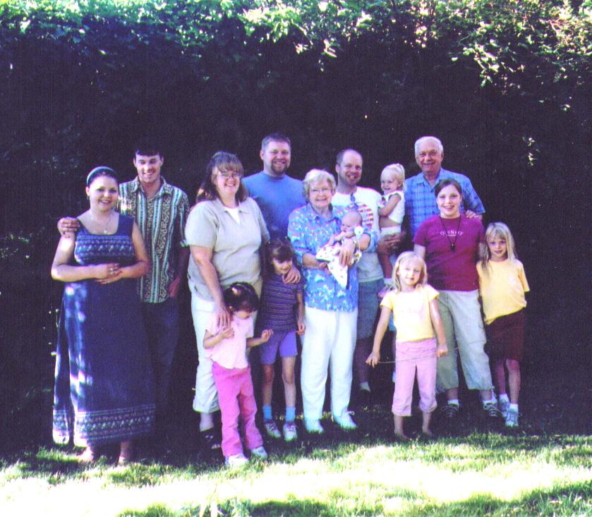 Bonnie & Wayne & All the Grandkids 7-2005  - Copy