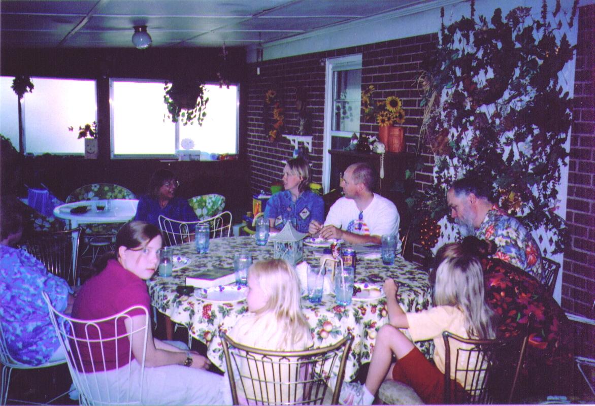 Connie,Kim,Russ,Mike,Michelle, Emily Megan,Alina & Bonnie 7-2005