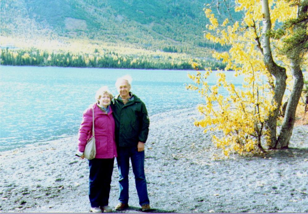 Bonnie & Wayne on shore of Kenai Lake