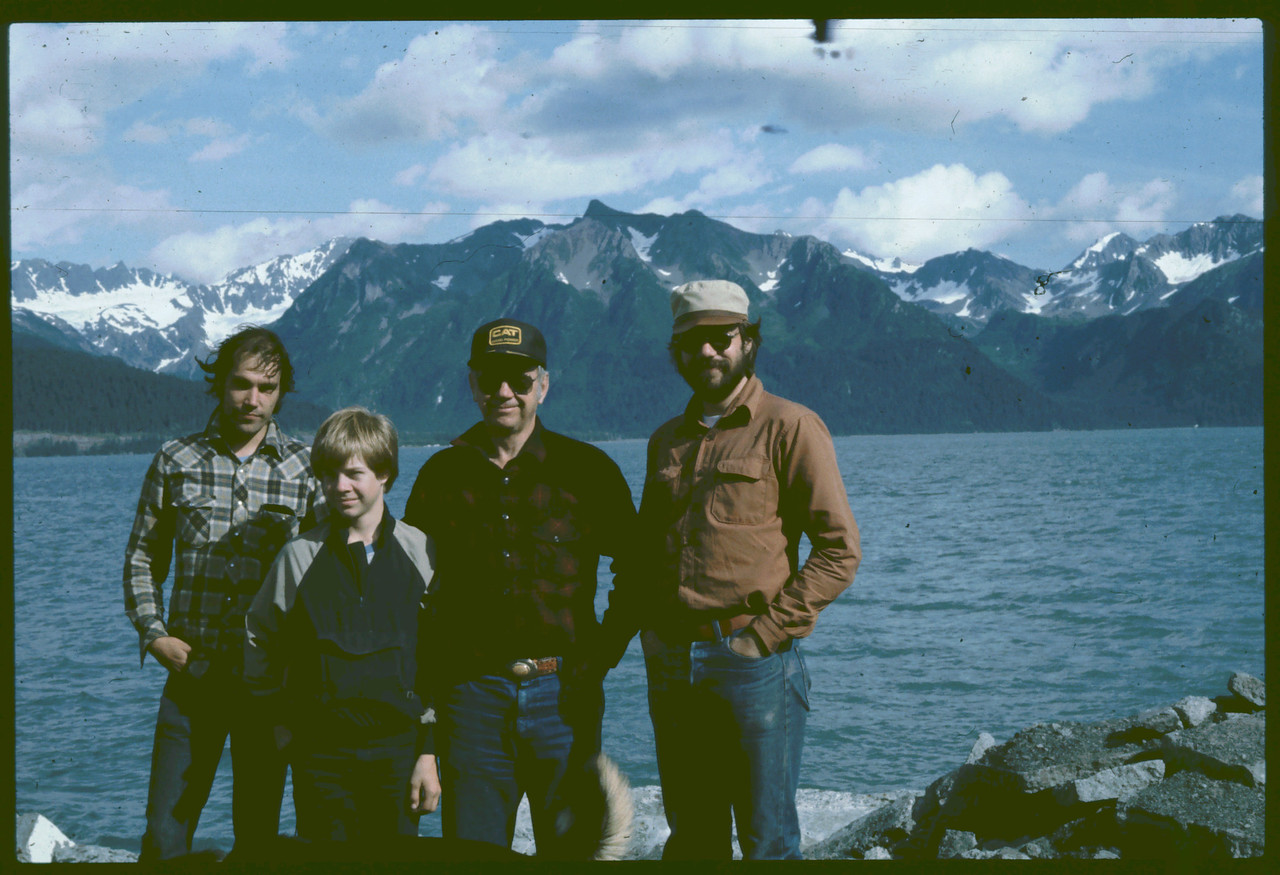 Dan, Russ, Wayne & Dave, Seward Harbor, AK , 08-1983,   8-21-2007 12-46-53 PM 2087x1592 - Copy