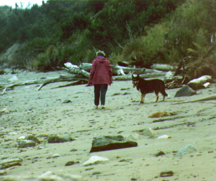 Bonnie & Tundra,Beacxh of Captain Cook Inlet, July 1988 -1