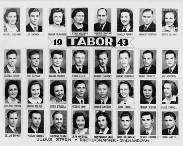 Bonnie's Graduating Class, 1943 -1