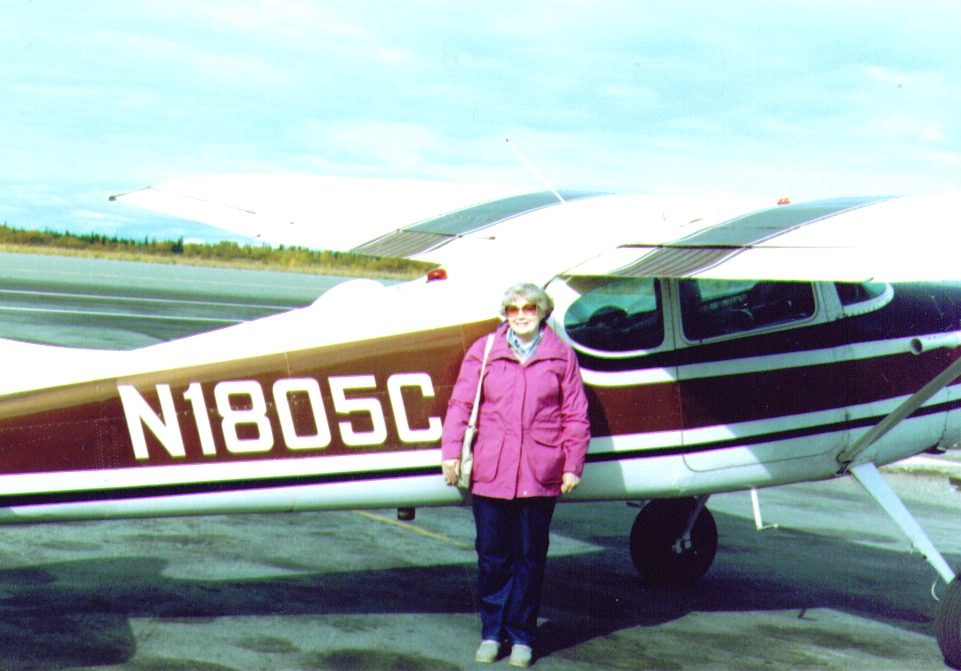 Bonnie Standing by Dave's Plane -1