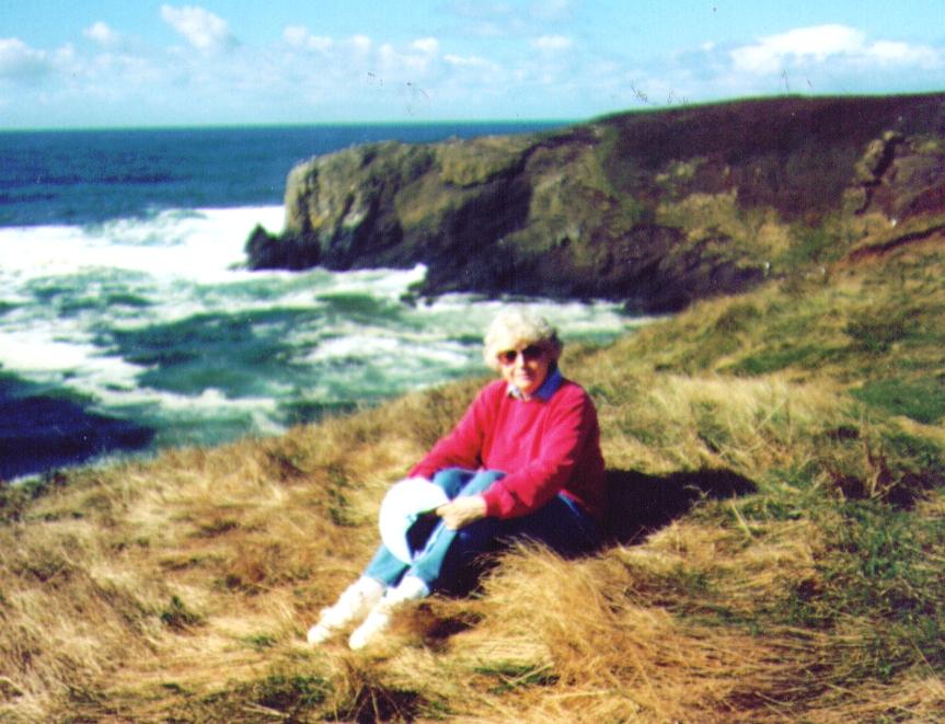 Bonnie at Oregon Seacoast 1990