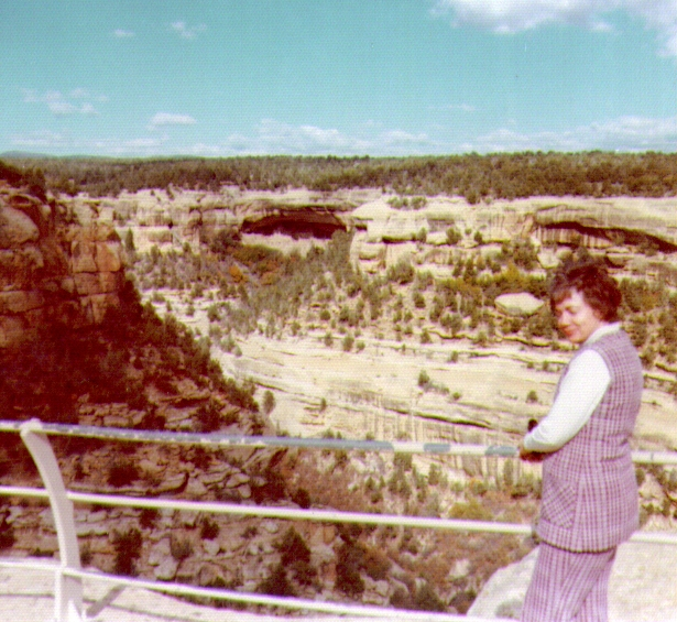 Bonnie Eldredge at Mesa Verde   Oct 1972   615x565