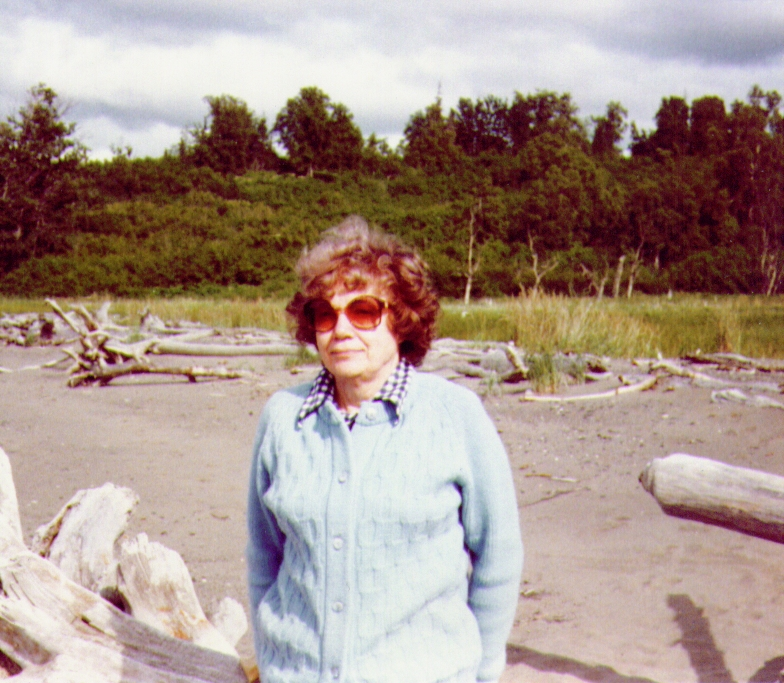 Bonnie on beach near Bishop's Creek,July1980