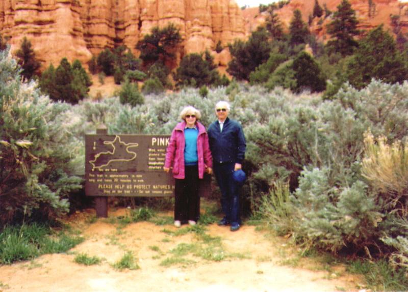 Bonnie & Wayne Eldredge, Pink Ledges, Zion Park, 948x680