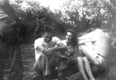 Wayne,Bonnie,Duane at Magpie Campgrounds