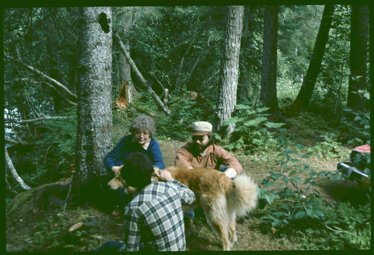 Bonnie, Dan, Dave & Griz, Hiking on Kenai, AK   08-1983, 2084x1598 8-20-2007 9-02-18