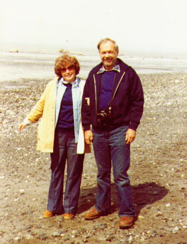 Bonnie,Wayne on beach of East Foreland , Nikiski