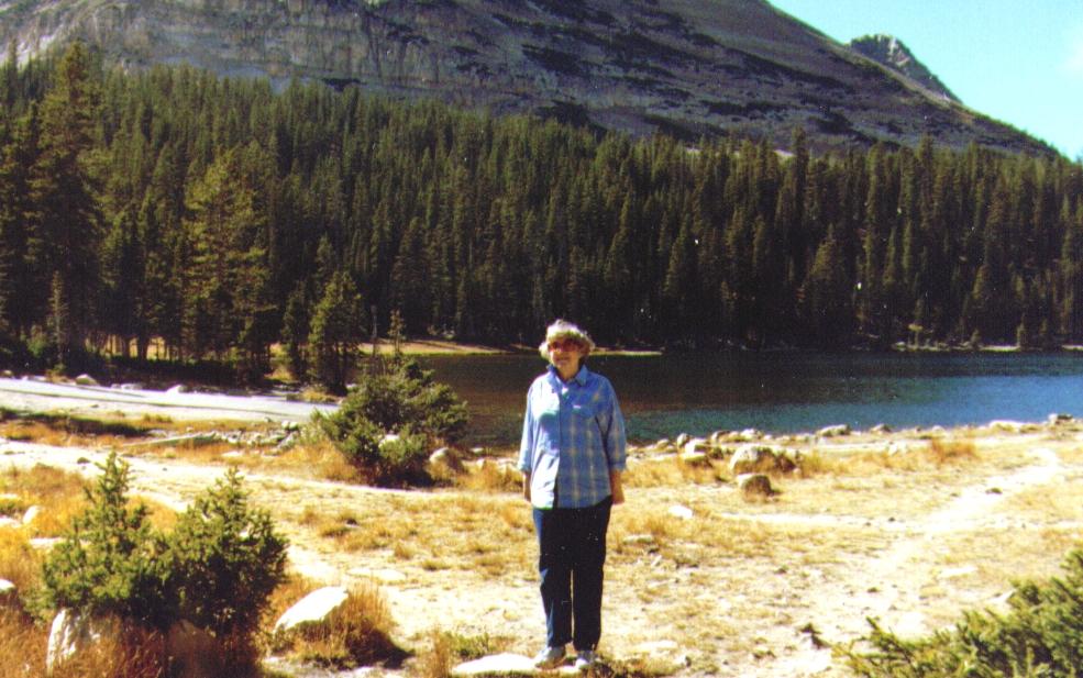 Bonnie at Mirror Lake Picnic grounds
