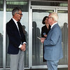 Grandpa Bob and Greatgrandpa Ray after Grandma Ruth's memorial service in 1987<br /> Aunt Susan in background