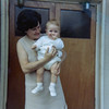 Bonnie's Scottish stepmother, Mary Lindsay, and her baby Kirsten<br /> Kent, England<br /> summer 1970