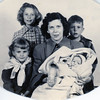 Grandma Ruth and four children<br /> Susan and Michael in back; Bonnie and Timothy in front