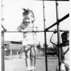Bonnie & Susan climbing the monkey bars