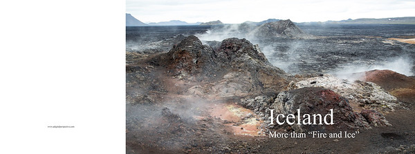 """Iceland """"Fire and Ice"""" Book cover"""