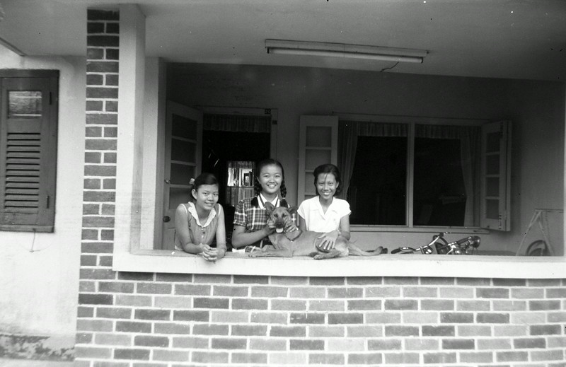 Helena and Francises and Ah Hui (Singapore 1955)