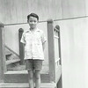 Me at the front step of Our House (Sibou 1955)