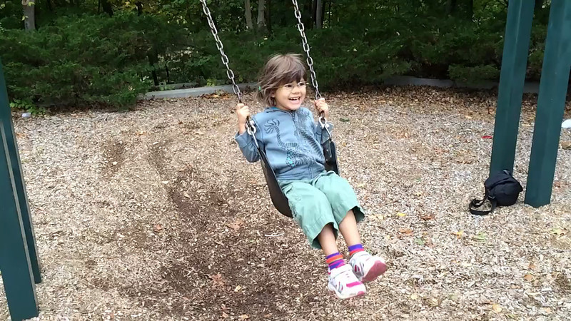 Aoife swinging in slow-motion