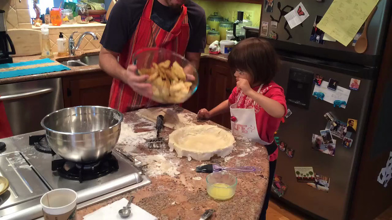 Finishing the apple pie