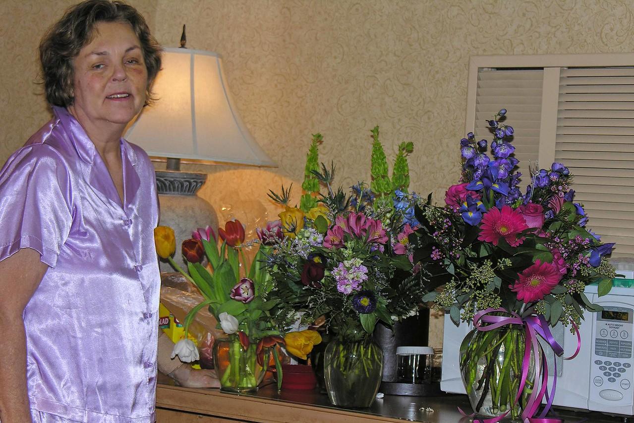 Got lots of flowers!