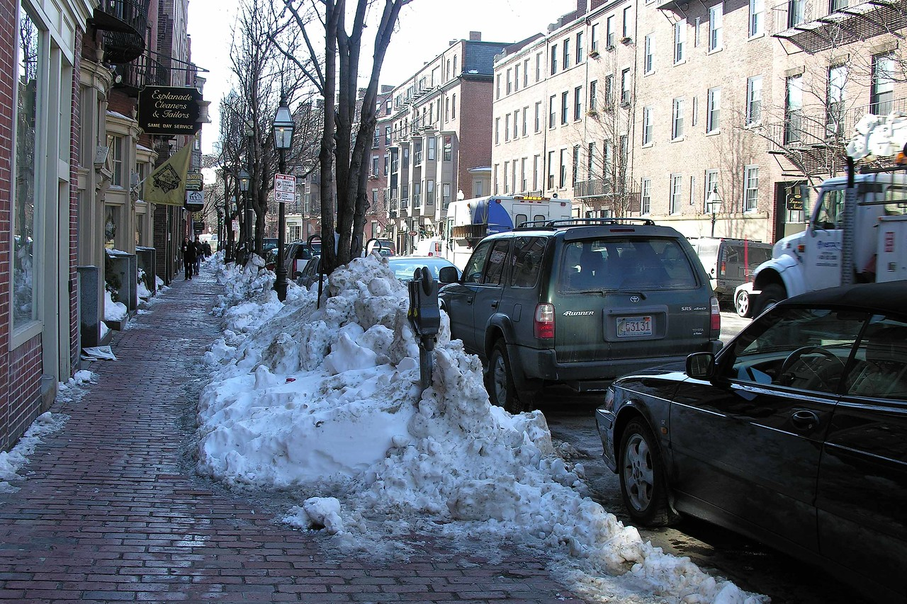 Up to Beacon Hill - 40 inches of snow the previous weekend