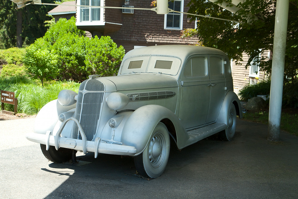 We went to the DeCordova outdoor sculpture park which included this old Chrysler that has music playing inside