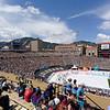 Folsom Field, race end point