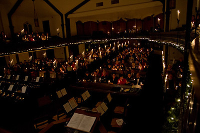 Macomb Presbyterian Church's Candle light service 2011