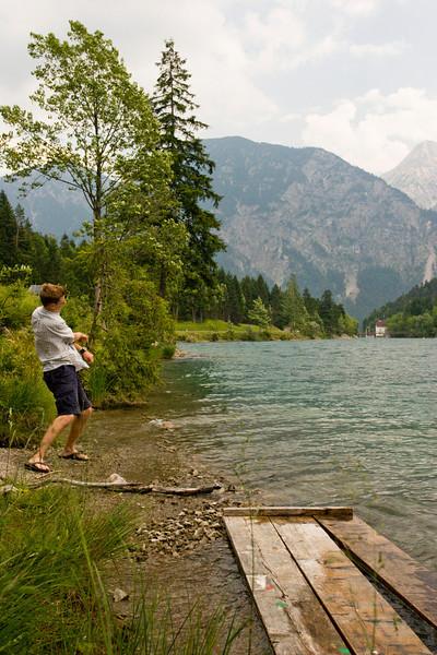 Skipping rocks in Austria