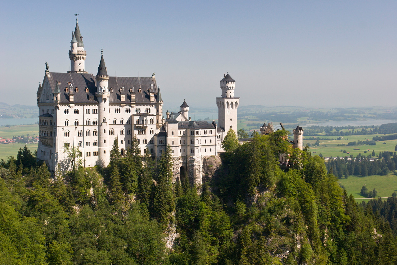 Neuschwanstein castle, Bavarian region, Germany