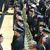 Graduates processional - Could be that Kevin is facing camera in front row