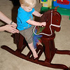 Brady got a rocking horse from mommy and daddy
