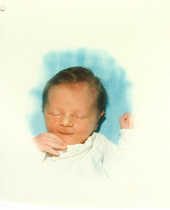 Brandon's newborn picture - July 19, 1989
