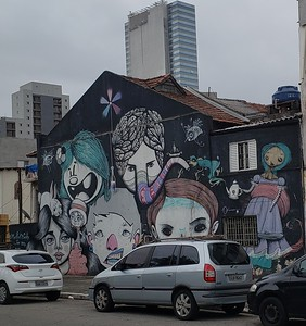 building artwork around Sao Paulo