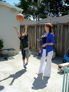 Shooting hoops with Jimmy