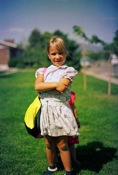 Breanna first day of School, Sept, 1991
